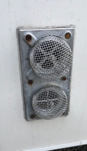 Trailer vent insect screen