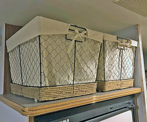 Rustic wire pantry baskets