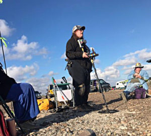 Mary Shafer teaches metal detecting at the WRTR