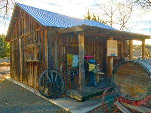The original rancher's cabin at Orchard Ranch RV park