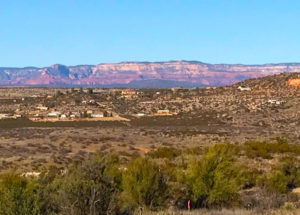 The view from Verde Valley RV park toward Sedona