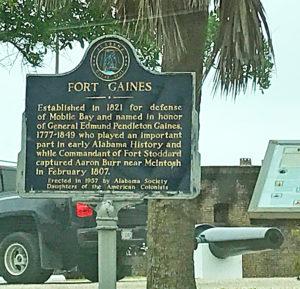 Milestones: Fort Gaines Sign