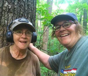 Milestones: Anita Jackson & Mary Shafer metal detecting