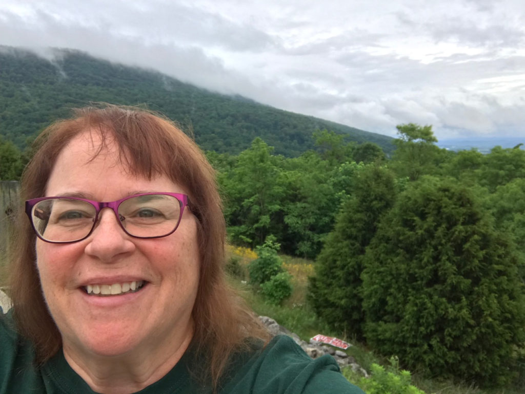 Milestones: Mary Shafer at a scenic overllok