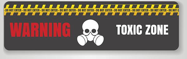 hazard warning tag