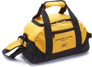 Yellow duffel go bag