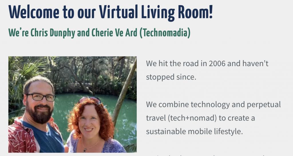 Cherie Ve Ard and Chris Dunphy of Technomadia